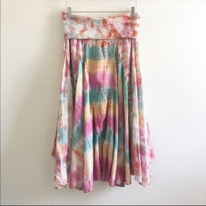romeo & juliet couture tie dye skirt